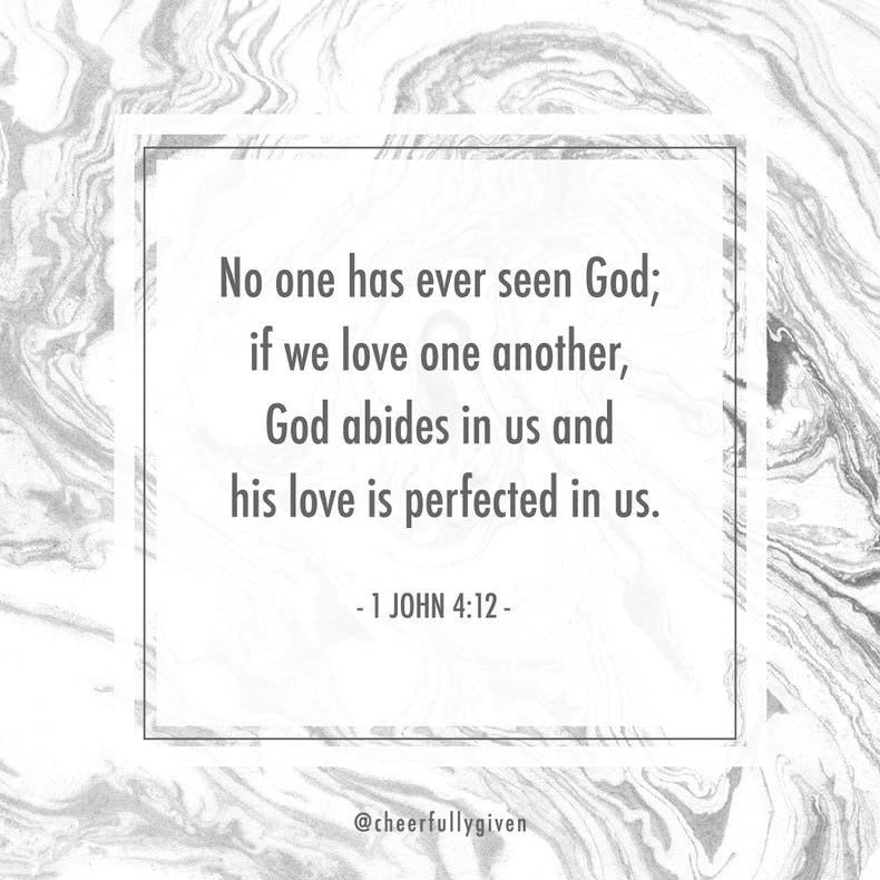1 John 4:12 Bible Verses for Valentine's Day