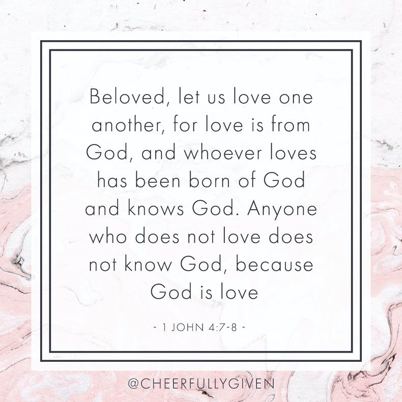 1 John 4:7-8 Bible Verses for Valentine's Day