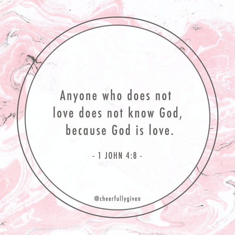 1 John 4:8 Bible Verses for Valentine's Day