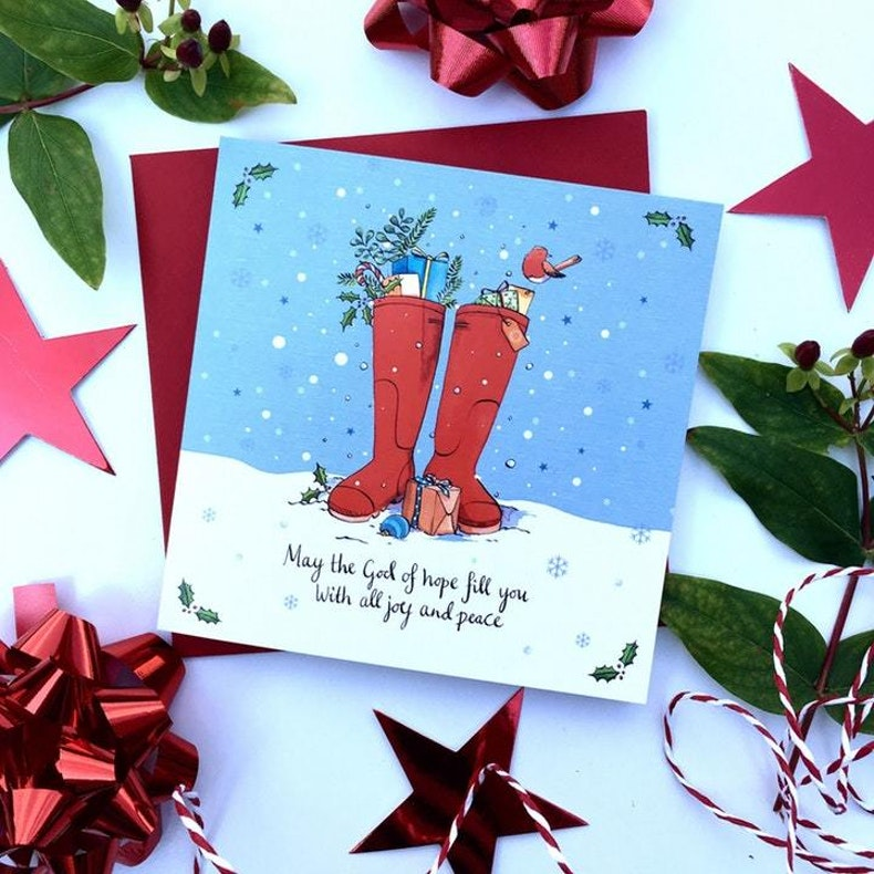Forget Me Not Boxing Day Walk Christian Christmas Cards UK | Cheerfully Given