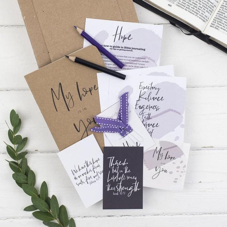 10 Hope Christian Journal Set | Christian Lettering Company @ Cheerfully Given