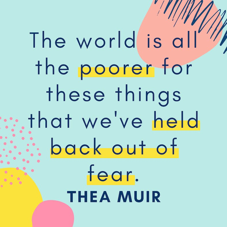 Thea Muir Quote from Creative Christianity Summit Cheerfully Given