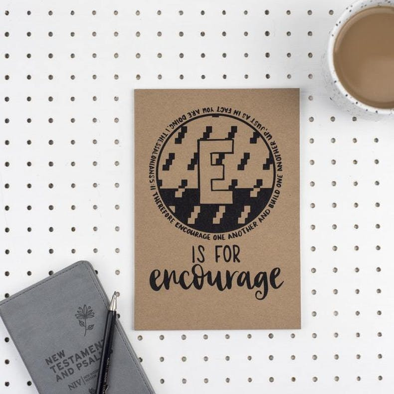 13 E Is For Encourage Christian Notebook | Cheerfully Given