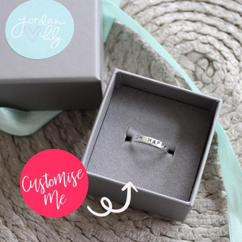 14  Custom Stamped Ring Jordan Lily Designs