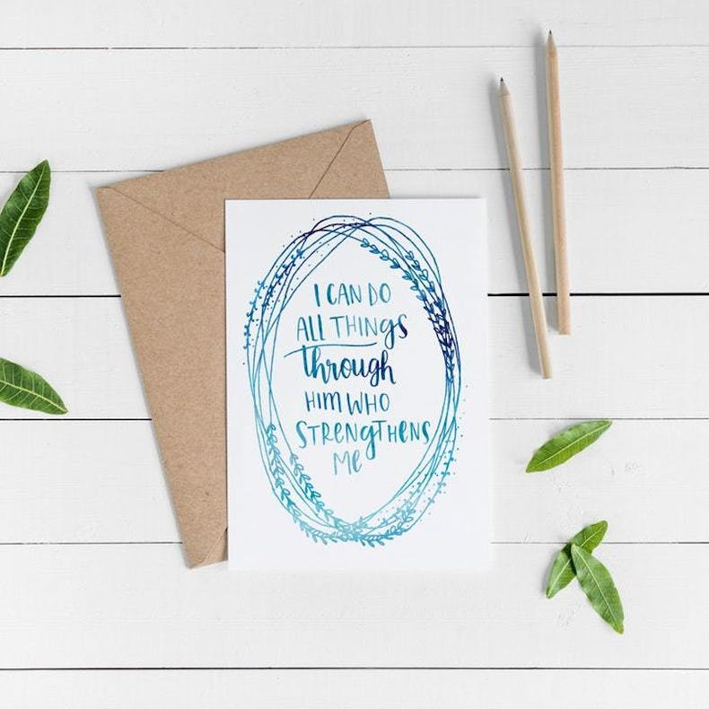 I Can Do All Things Christian Lettering Company at Cheerfully Given