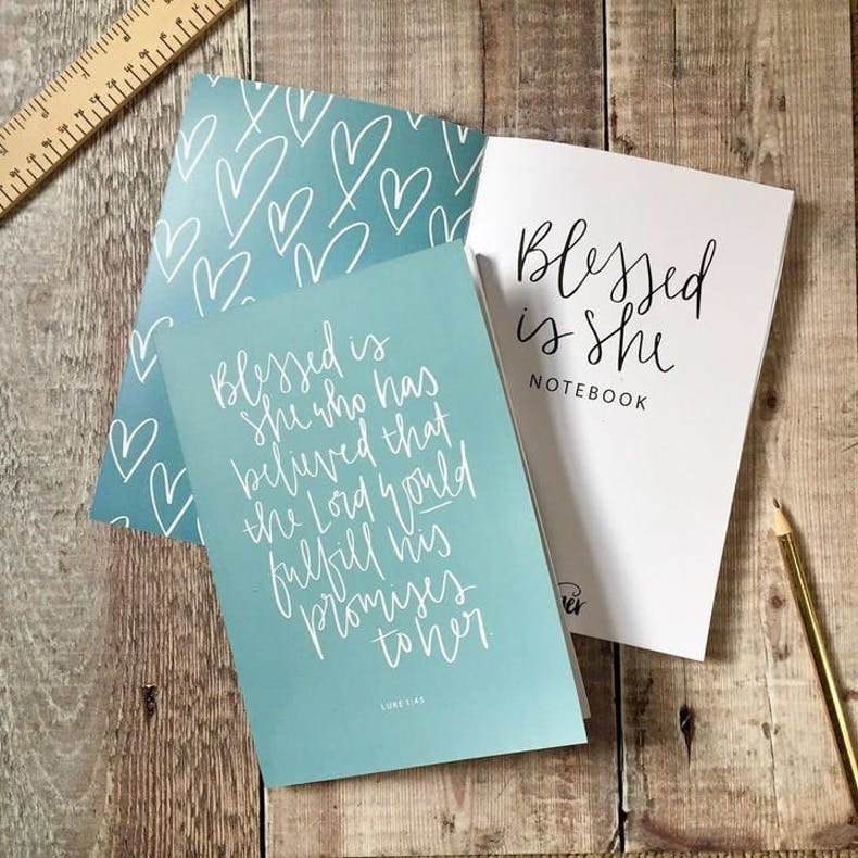 Blessed is She Devotional Notebook by Hope and Ginger at Cheerfully Given