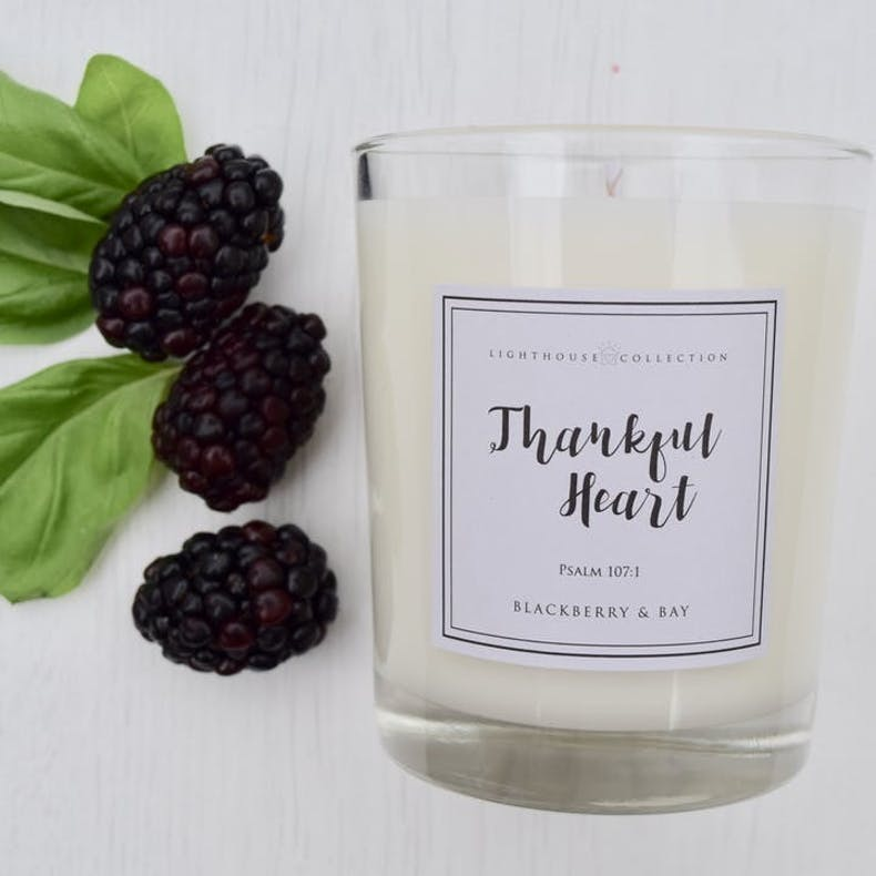 2 Thankful Heart Candle Lighthouse Collection
