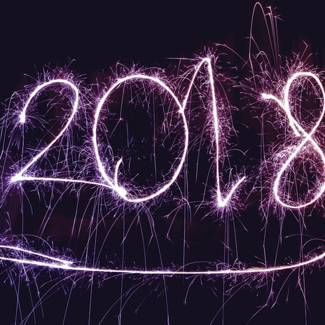 2018 in Sparklers against night sky | Blog Header | Cheerfully Given New Year