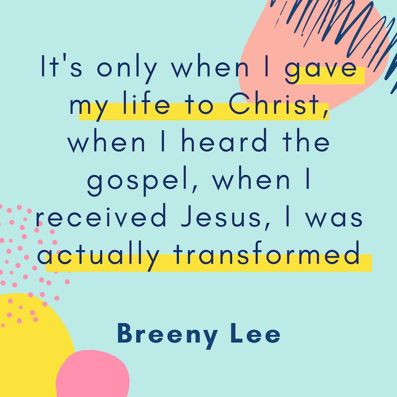 Breeny Lee Quote Creative Christianity Summit at Cheerfully Given