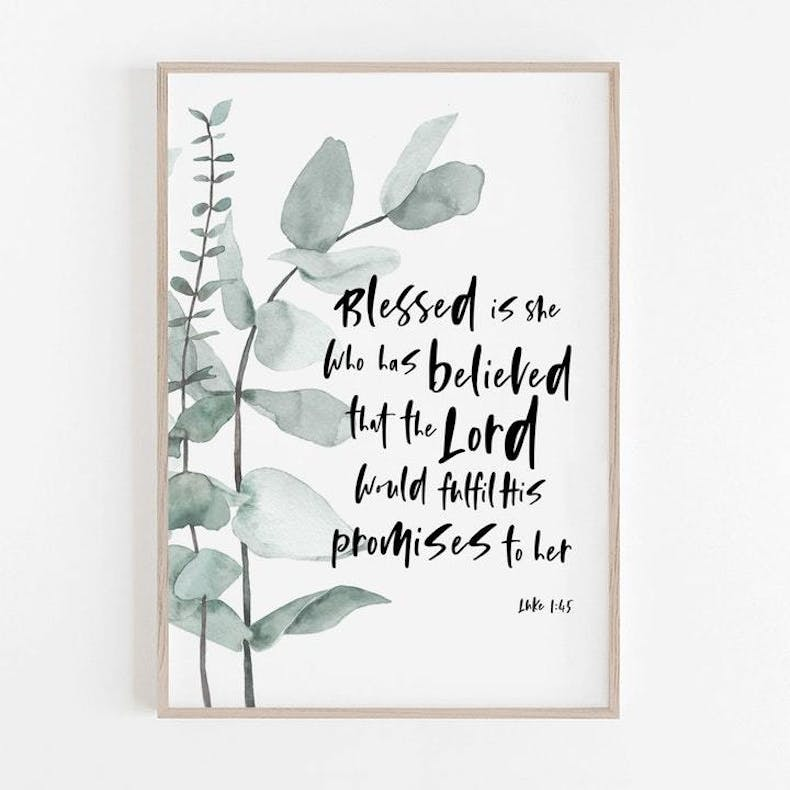 3 Blessed Is She Print Christian Lettering Company
