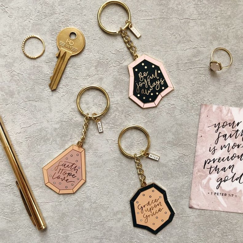 3 Grace Upon Grace Keyring More Than Gold Designs
