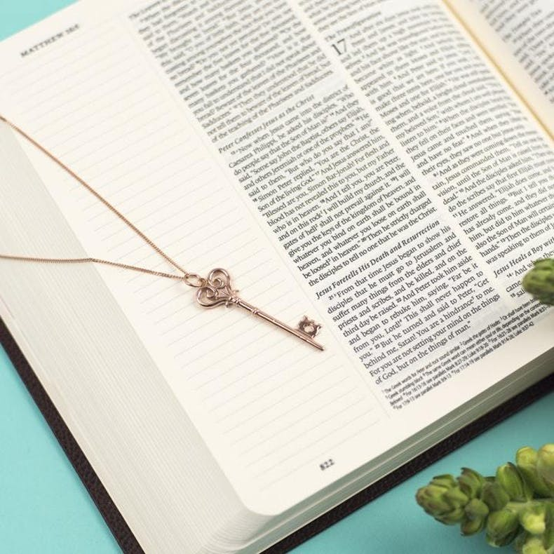 4 Prayer Is Key Necklace Bloom Jewellery
