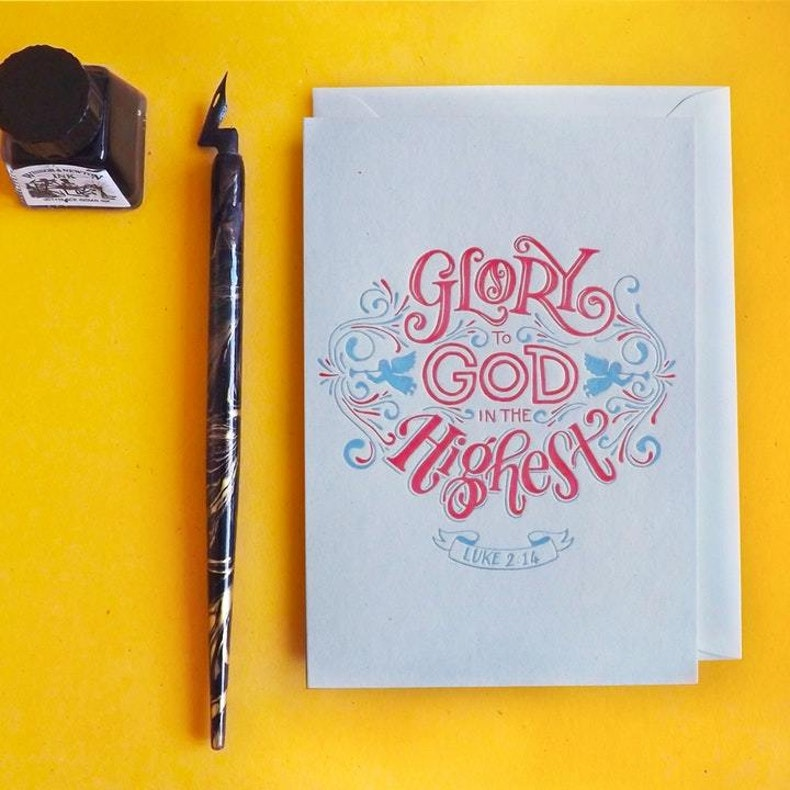 The Mustard Seed Press Christian Christmas Cards with Letterpressed words | Cheerfully Given