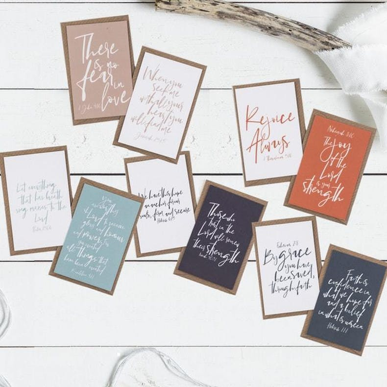 8 Scripture Cards Christian Lettering Company