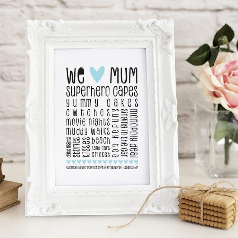 9 We Heart Mum Christian Artwork