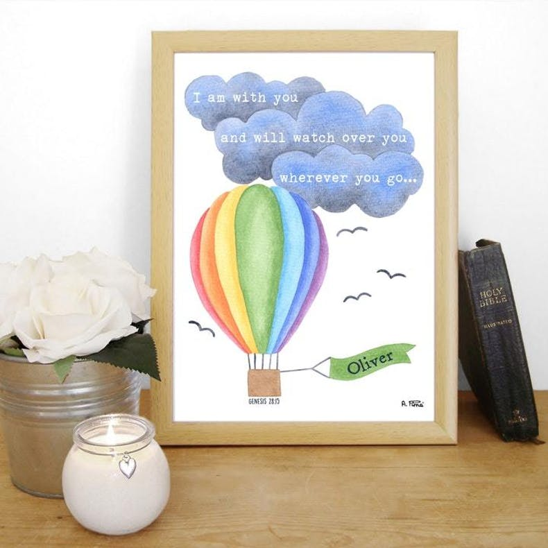 A4 Personalised Bible Verse Print