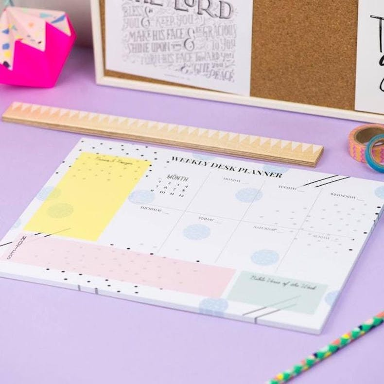 A4 Weekly Desk Planner from Morning by Morning Illustrations