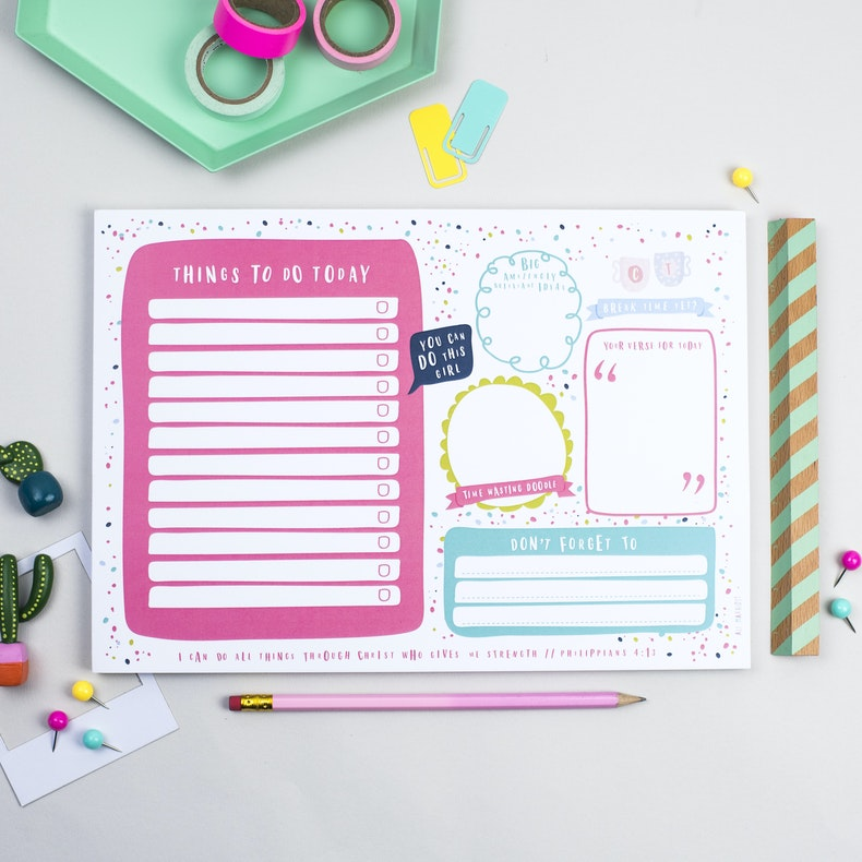 Ali Marriott Stationery Dotty Daily Planner Pad
