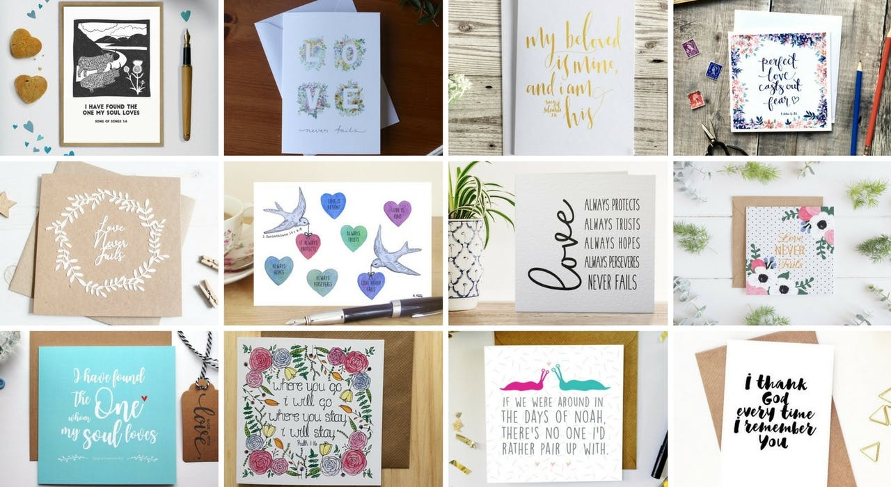 Assorted of Best Christian Valentine's Cards at Cheerfully Given