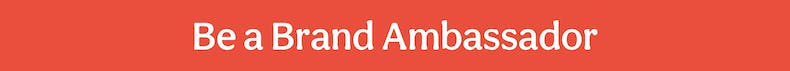 Be a Brand Ambassador Red Banner Cheerfully Given