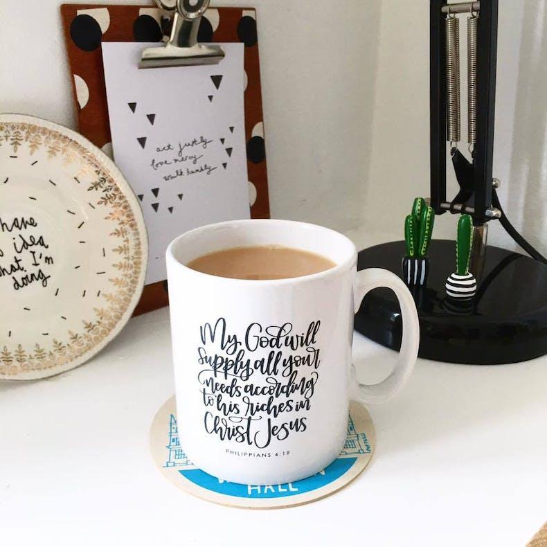 Cheerfully Given Kickstarter Mug