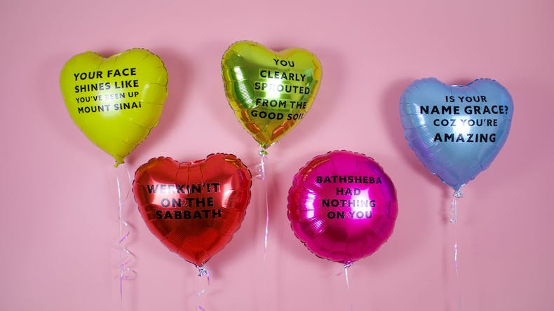 Christian Chat Up Lines - Bible Compliment Balloons