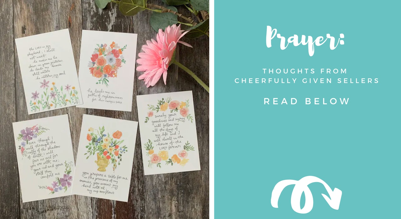 Christian Prayer Ideas from Cheerfully Given Sellers
