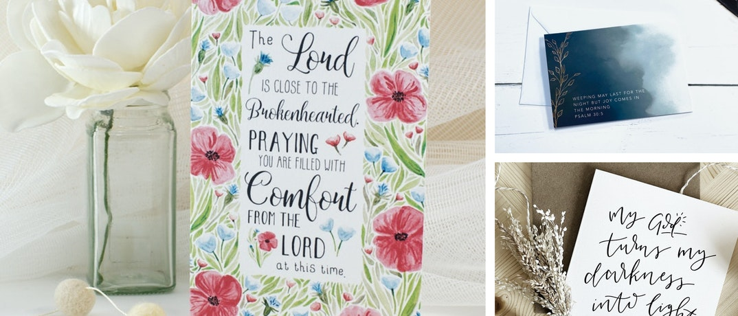 Set of 3 different Christian Sympathy Cards UK | Cheerfully Given - Christian Cards UK