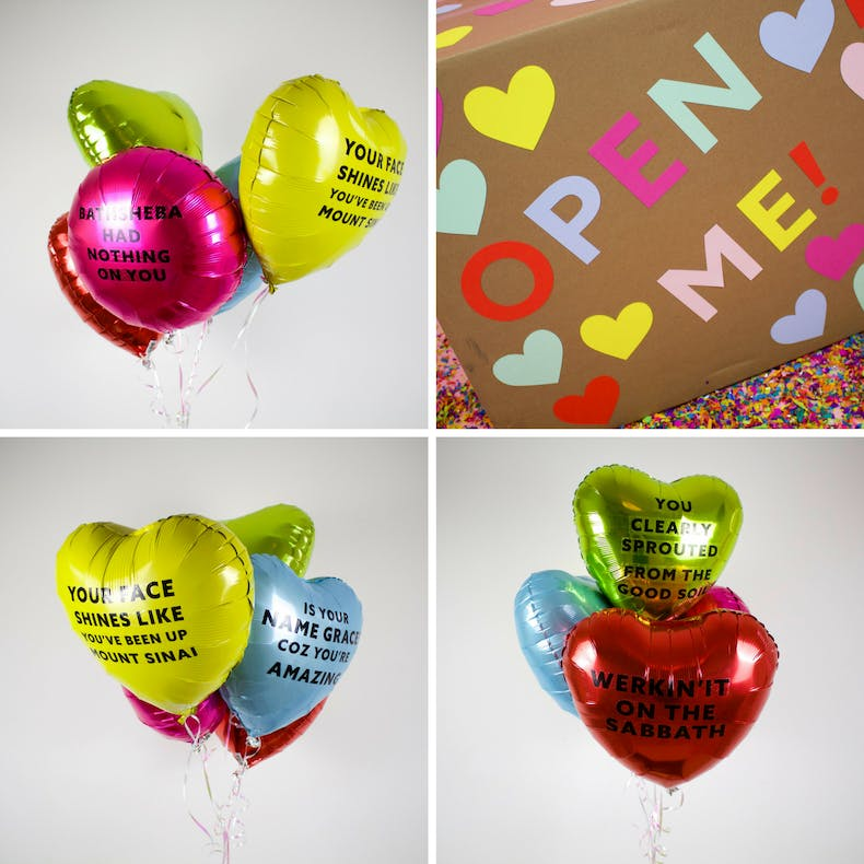 Christian party balloons