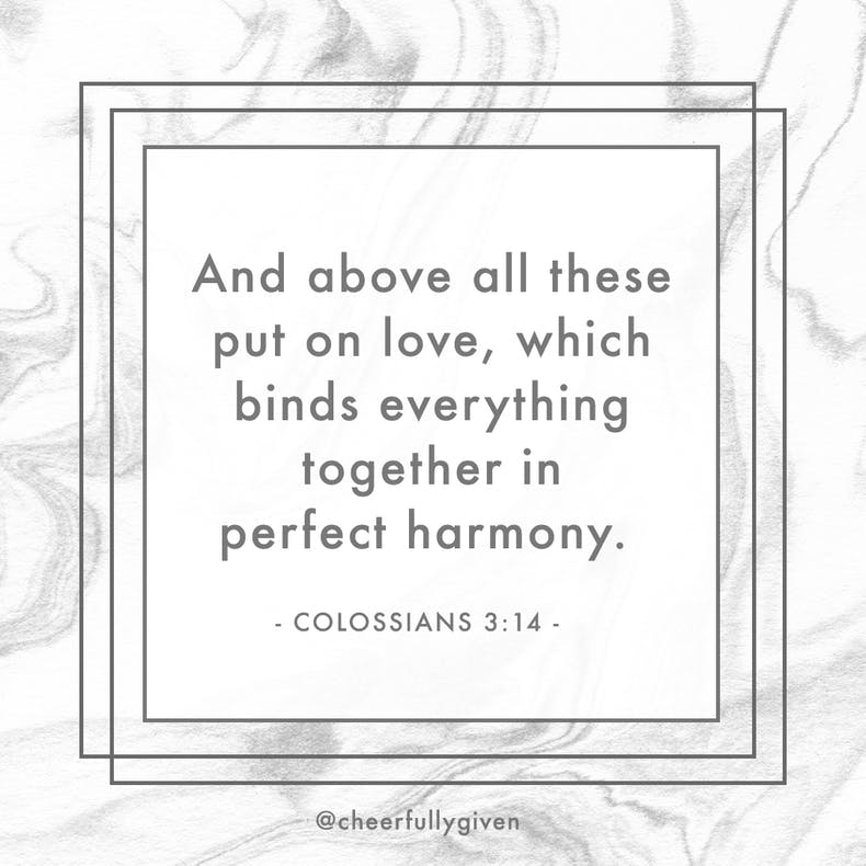 Colossians 3:14 Bible Verses for Valentine's Day
