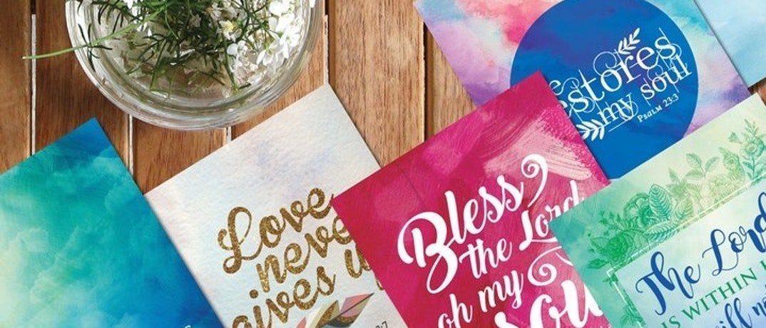 Colourful Scripture Cards | Nova Grace | Cheerfully Given