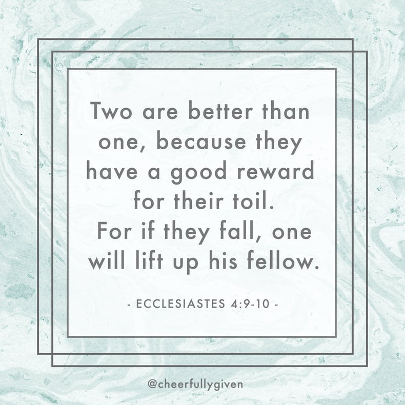 Ecclesiastes 4:9-10 Bible Verses for Valentine's Day