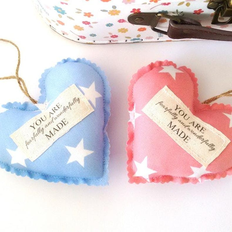Fearfully And Wonderfully Made Hanging Heart