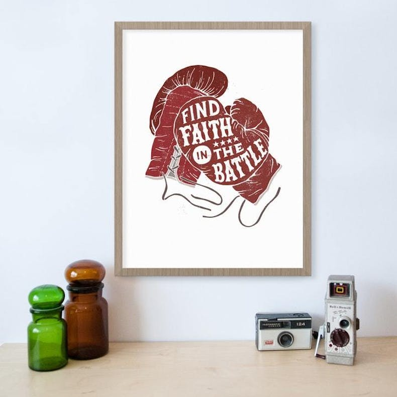 Find Faith in the Battle Print by Laurent Collective at Cheerfully Given