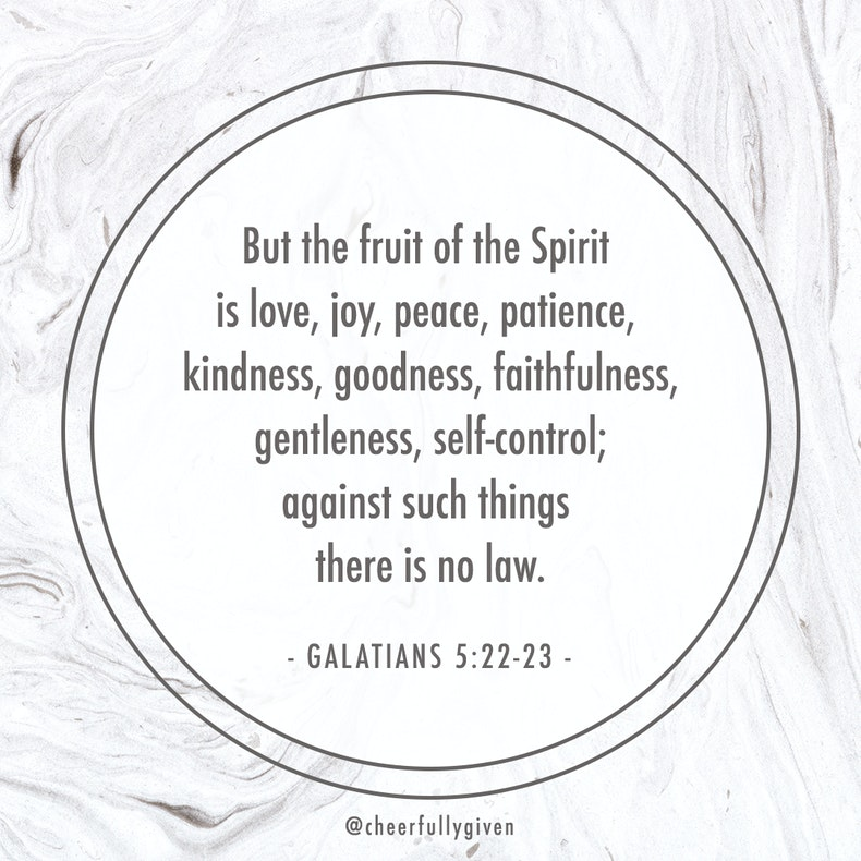 Galatians 5:22-23 Bible Verses for Valentine's Day