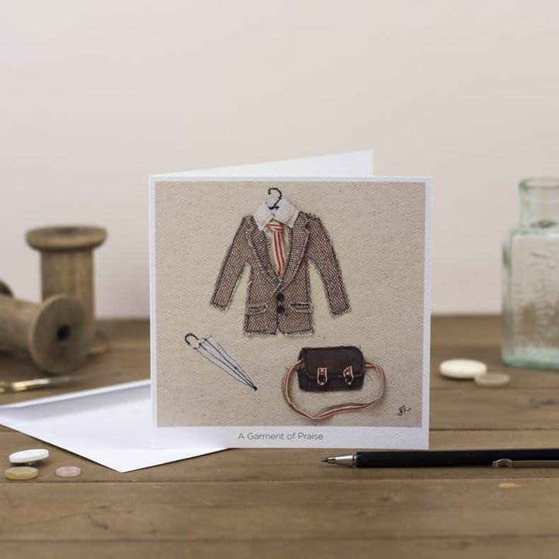 Garment Of Praise Fathers Day Card Cheerfully Given
