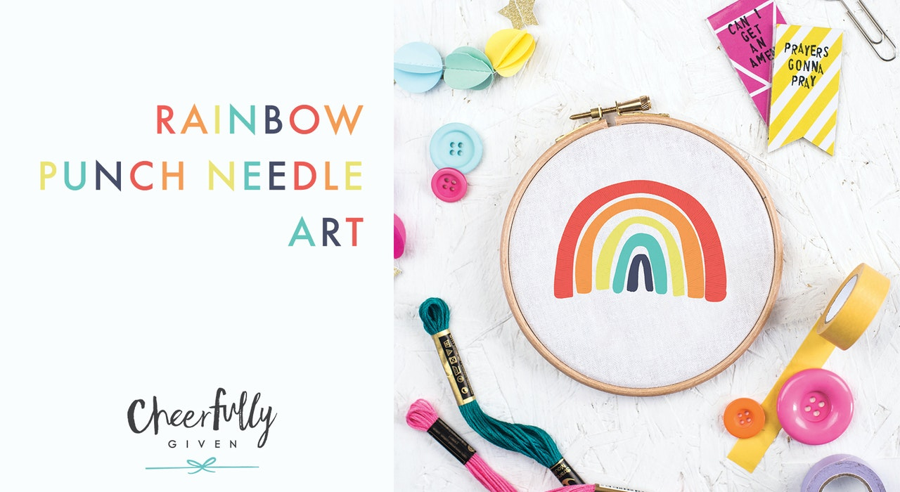 Gods Promises Rainbow Art | Cheerfully Given