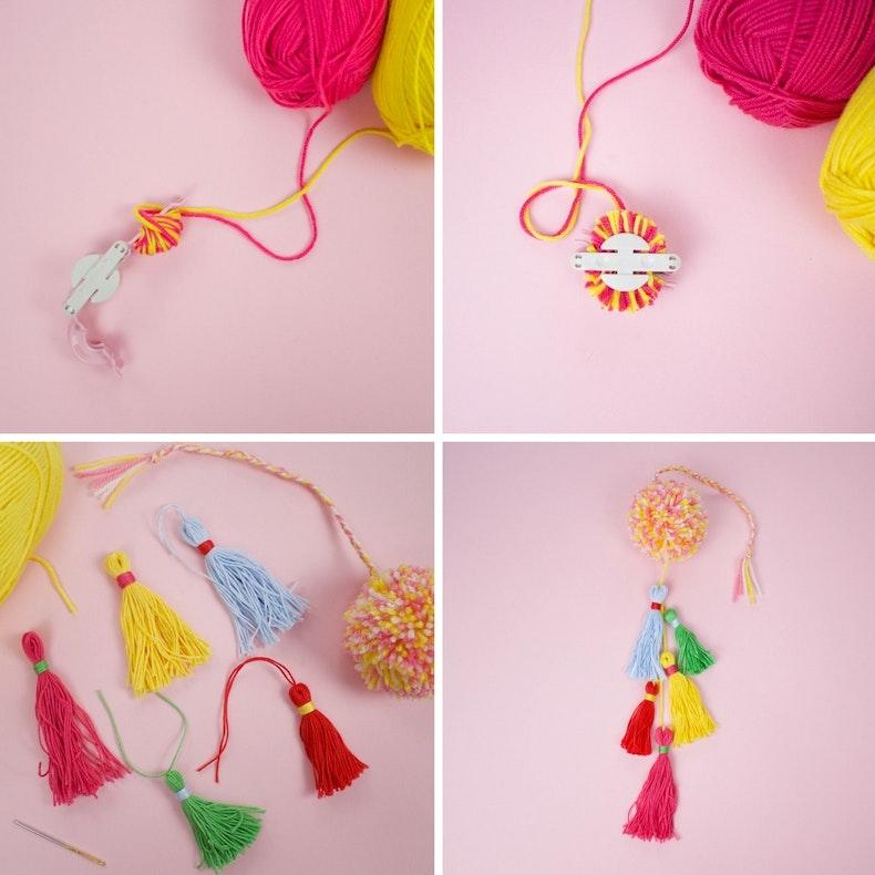 How to make a pompom bag charm