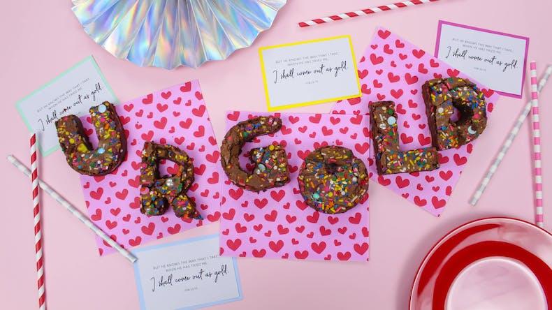 Job 23:10 Sprinkle Brownies