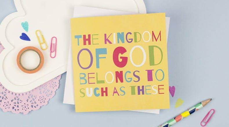 Kingdom of God Bible Verse Card by Judy B Designs at Cheerfully Given
