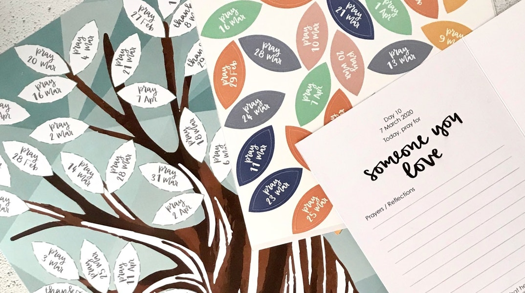 Lent Prayer Tree Easter 2020 Resources   Hope and Ginger   Cheerfully Given