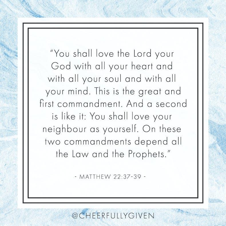 Matthew 22:37-39 Bible Verses for Valentine's Day