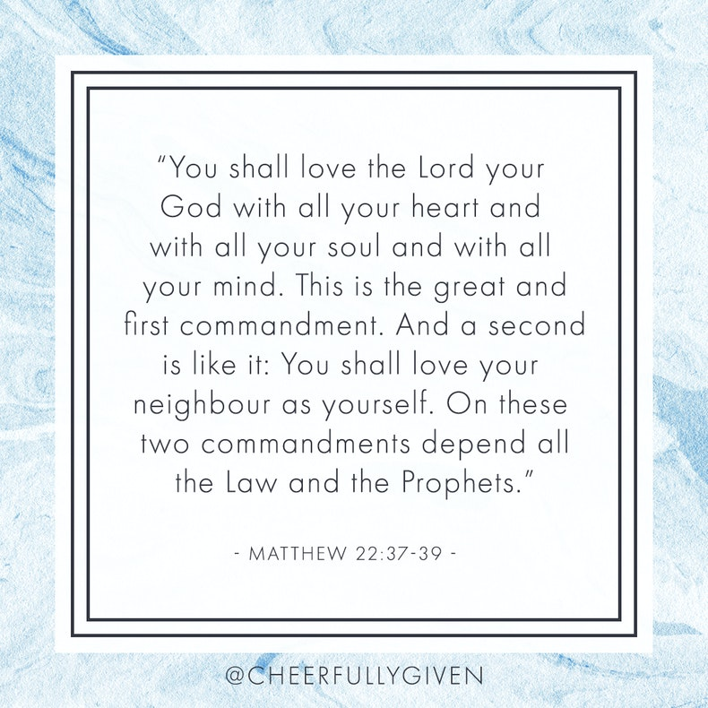 Matthew 22:37-39 Bible Verses for Valentine's Day