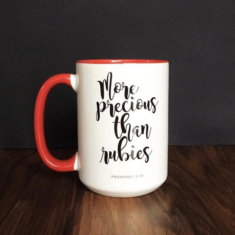 More Precious Than Rubies Christian Mug for Women