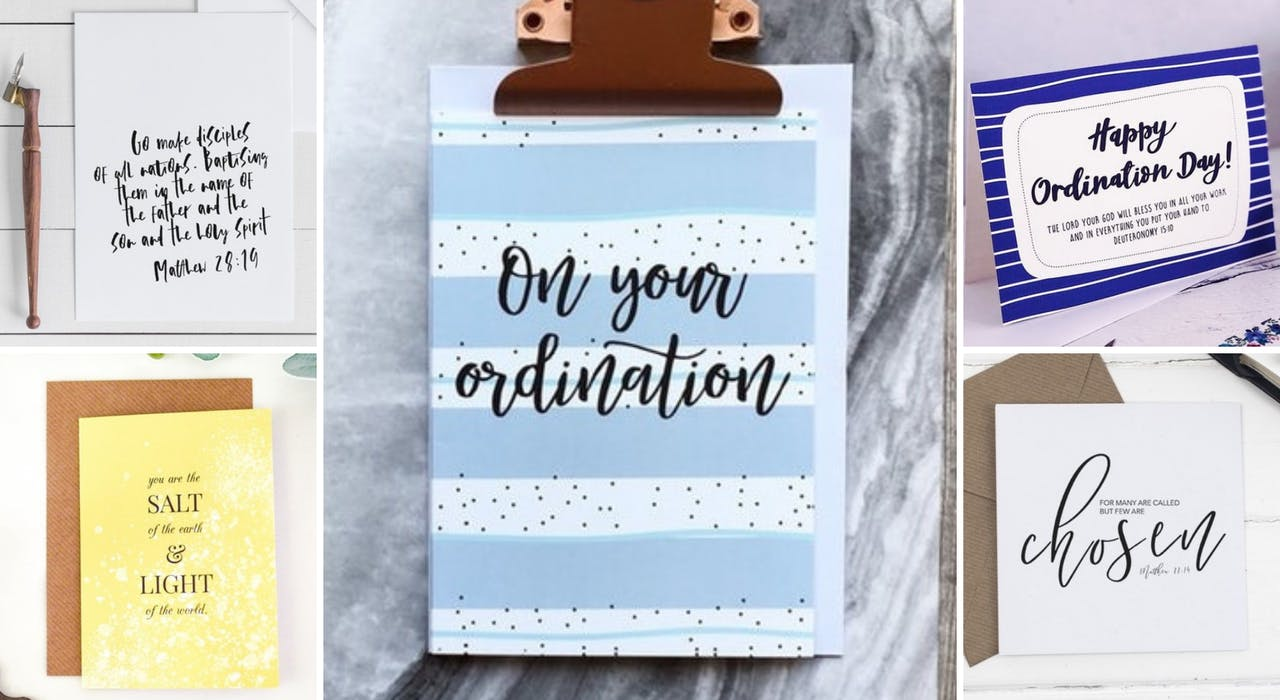Header for Ordination Day Cards at Cheerfully Given