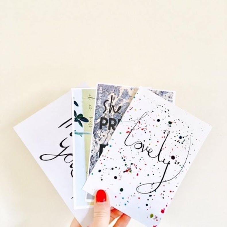 Philippians 4:8 Whatever Is Lovely Postcard Pack LoveBettyAnn