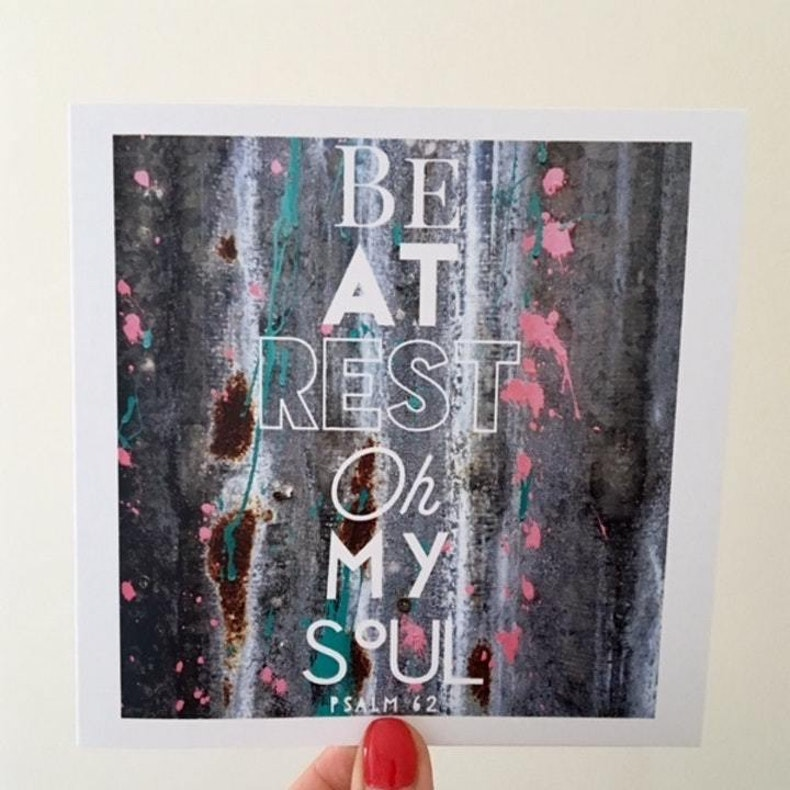 Psalm 116 Be At Rest Oh My Soul Card LoveBettyAnn