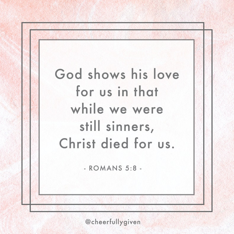 Romans 5:8 Bible Verses for Valentine's Day