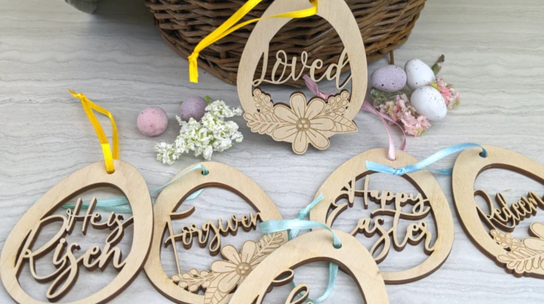 Scripture Eggs - Christian Easter Decor | Birch and Tides  | Cheerfully Given - Christian Gifts UK