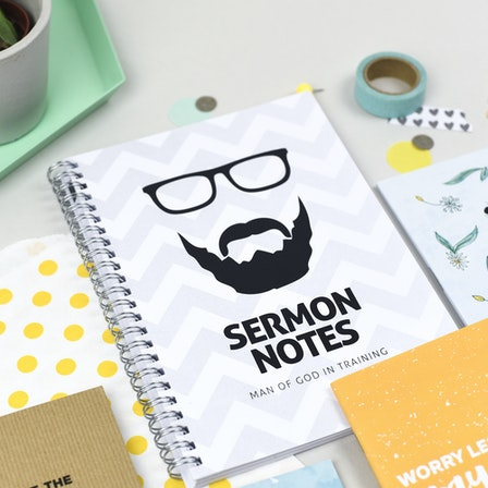 Sermon Notes | Christian Notebooks | Holly Booth Photography | Cheerfully Given